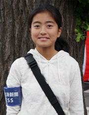 中学一年 野澤 福芽さん